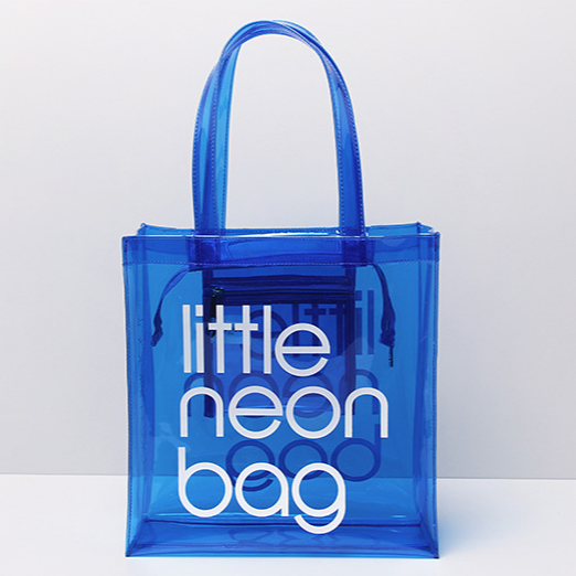 2018 Newest Style Summer Pvc Beach Handbag Neon Colored Bags Promotional Insulated Bag Clear Product On Alibaba