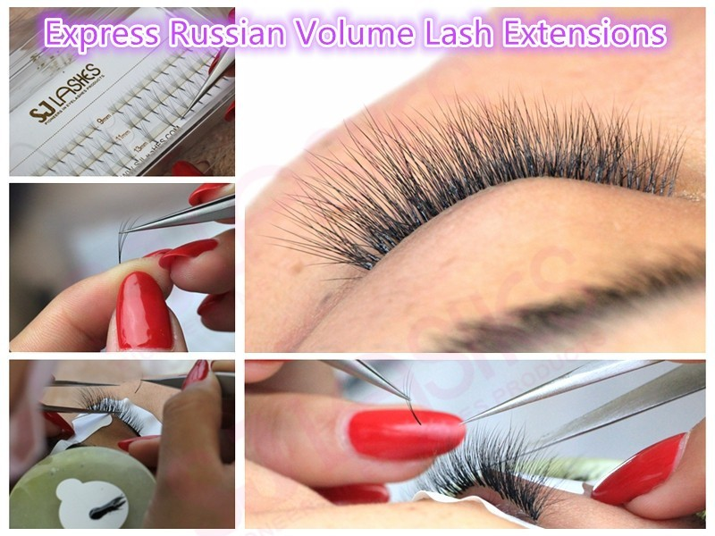 Russische Volume 2D-6D Fan Wimpers Individuele mink wimper extension