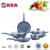 2017 forged aluminum cookware set use non-stick coating sets with soft-touch handle