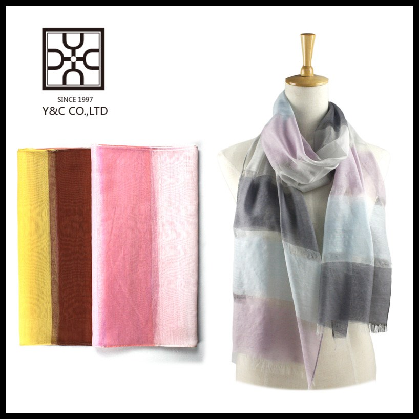 Promotion Spring & Summer hollow multi-color women fashion silk cotton scarf