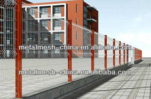 High Quality Color Garden Fencing Design in Fence Factory is Braided welded together Wrought iron fence designs