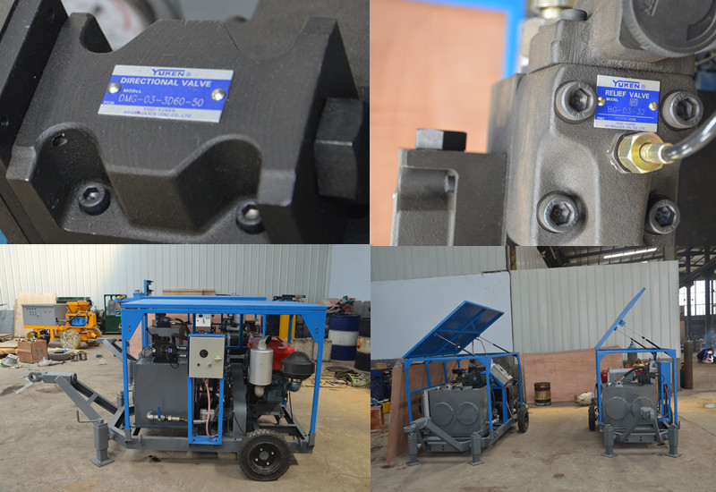 Chinese Supply Double Cylinder Diesel Hydraulic Power Pack Unit ...