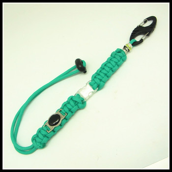 Handmade 550 paracord keychain survival keychain long rope for Survival rope keychain