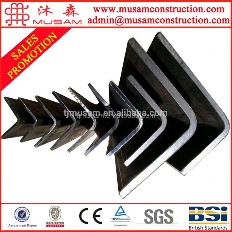 Hot Rolled Carbon steel angle bar / angle iron SS400 price list 75x75x6
