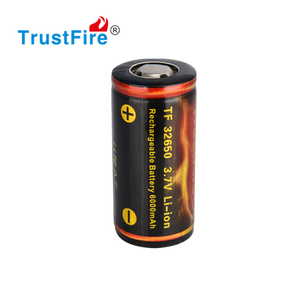 32650 Trustfire rechargeable portable high voltage 6000mah 3.7v cell battery