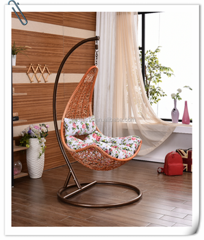 Bird Nest Weaving Indoor Home Leisure Furniture With Armrest Rattan Swing  Hanging Chair