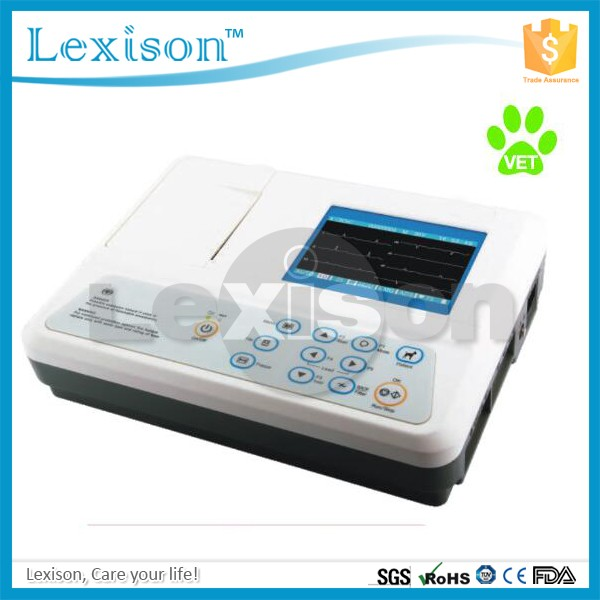 CE approved Portable 3-channel Veterinary Electrocardiograph/EKG/ECG machine ECG-R3303GV
