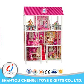 Hot Sales Girls Play Set Plastic Funny Big Doll House Buy Big Doll