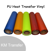 PU/glitter/flock/reflective/printable garment roll size flock heat transfer vinyl