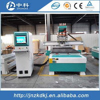 Four heads wood cnc router engraving machine simple changing cutters