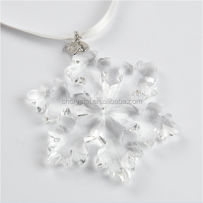 MH-DS0253 Hanging Decoration Glass Personalized Snowflake Ornaments