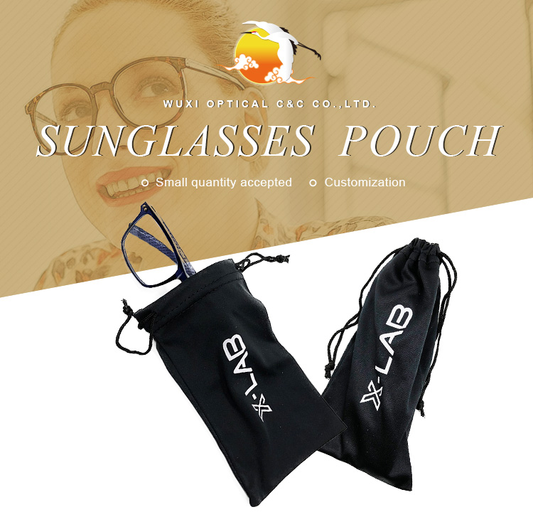 Soft Microfiber Cloth Drawstring Bags Pouch