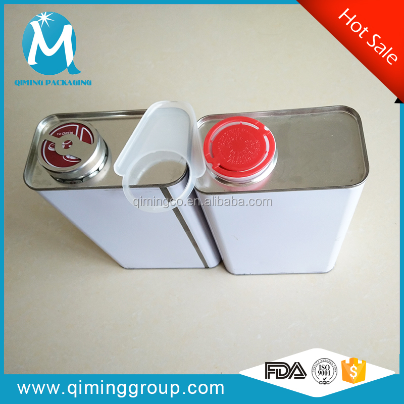 0.5L - 5 L rectangle tin pails lubricant oil rectangle tin container