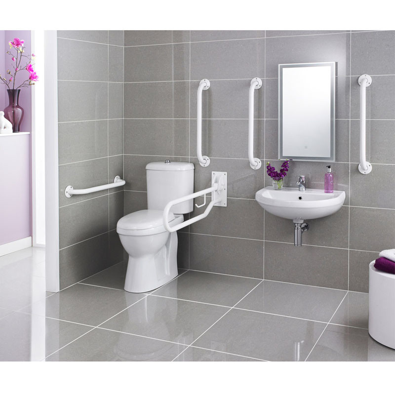 Handicapped equipment bathroom nylon handicap toilet grab - Handicap bars for bathroom toilet ...