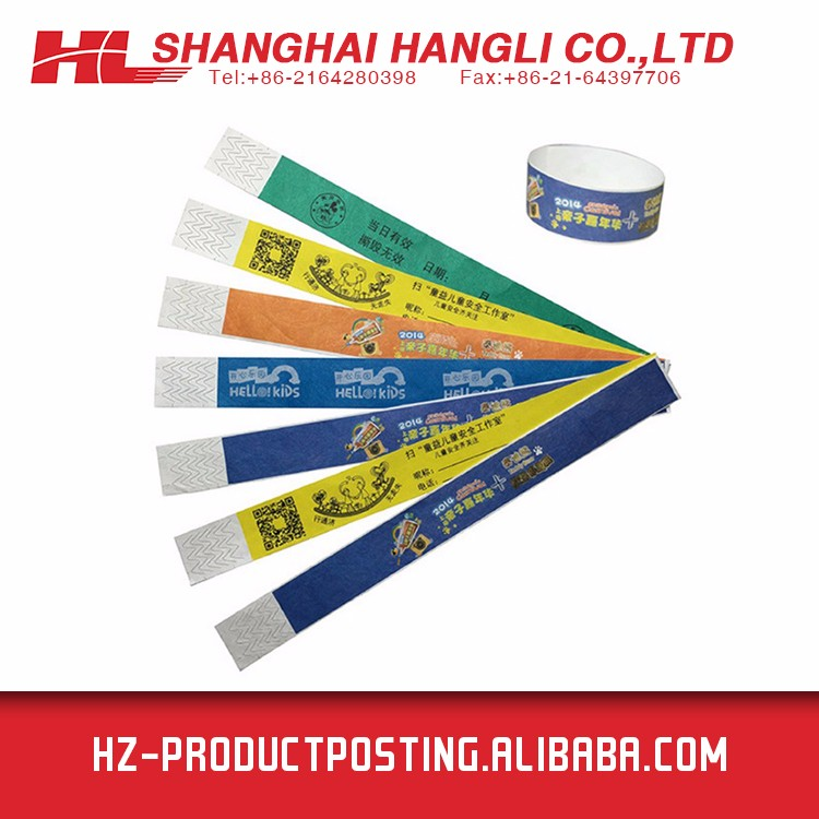 Factory Directly Provide cheap tyvek wristband