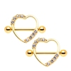 Wholesale Sexy 316L Surgical Steel Heart Shaped CZ Crystal Nipple Ring Body Piercing Jewelry