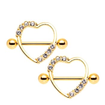 ba2329f9cc221f Wholesale Sexy 316L Surgical Steel Heart Shaped CZ Crystal Nipple Ring Body  Piercing Jewelry