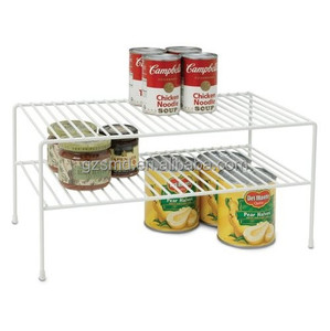 White 2 Tiers Metal Kitchen Pantry Storage Shelf