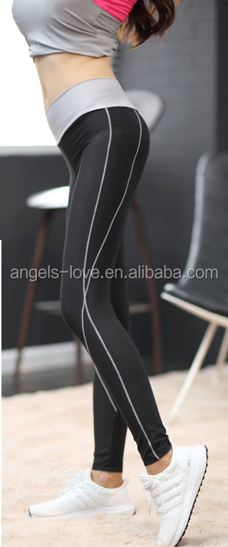 Wholesale High Quality Women Active Heather Knit Leggings Custom Gym Fitness Yoga Pants Workout Tight leggings