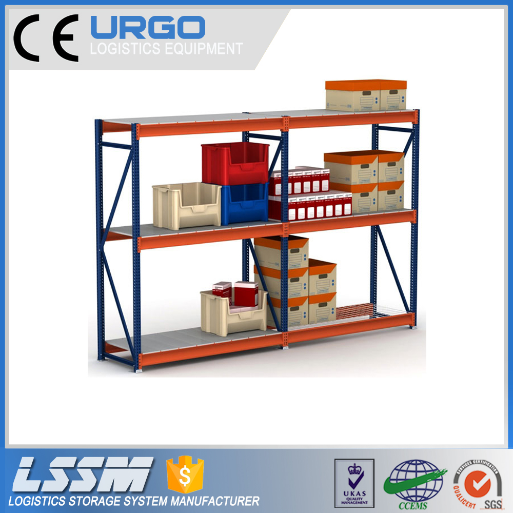 Warehouse Medium Duty Loading Long Span Rack With Steel Panel