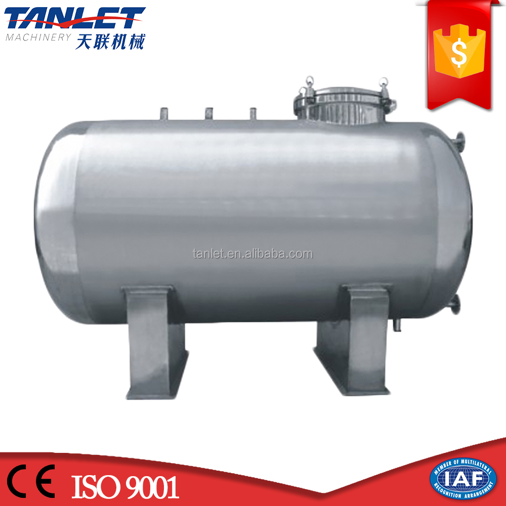 Horizontal SS 304 316 beer wine water milk processing storage tank