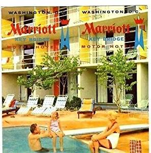 Marriott Key Bridge Motor Hotel Brochure Washington DC 1960's