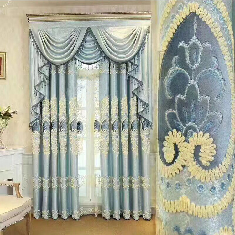 double layer fancy classic design handmade room curtain fabric