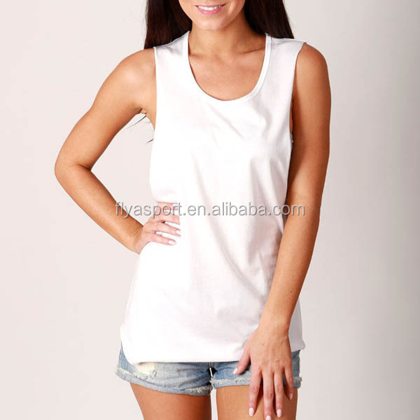 High Quality 100% Cotton sexy sleeveless tank top for women