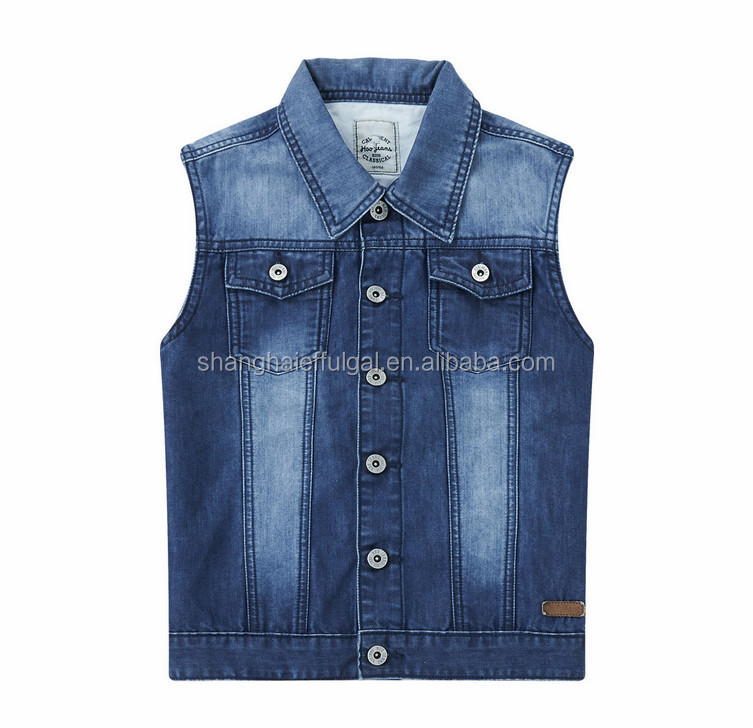 Denim Jacket Without Sleeve Children Denim Vest Boys Denim Vest ...