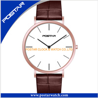 High Quality Sapphire Dial Quartz Watch for Men with Stainless Steel Band or Genuine Leather Strap