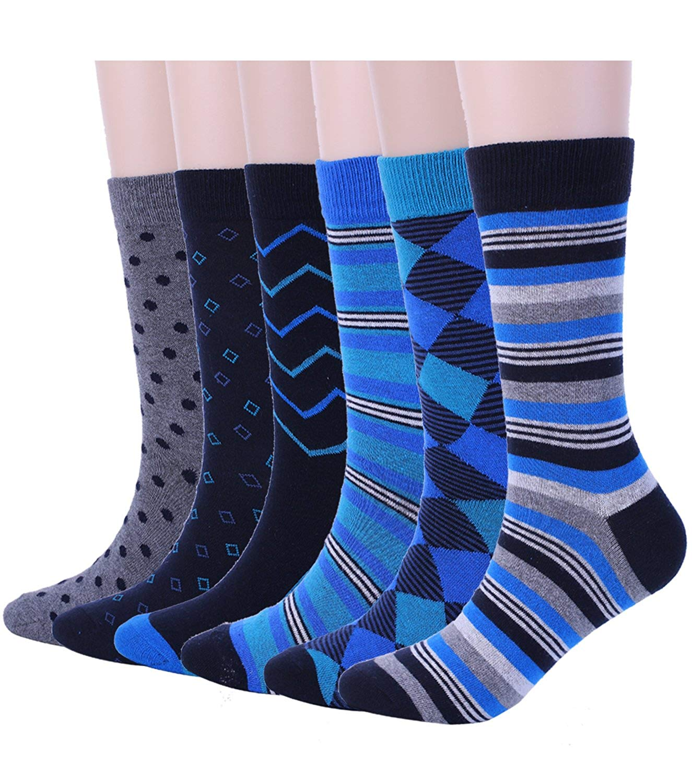 12 Pairs Of MEN/'S LUXURY Cotton Rich Lycra Designer Socks Size 6-11 EUR39-45