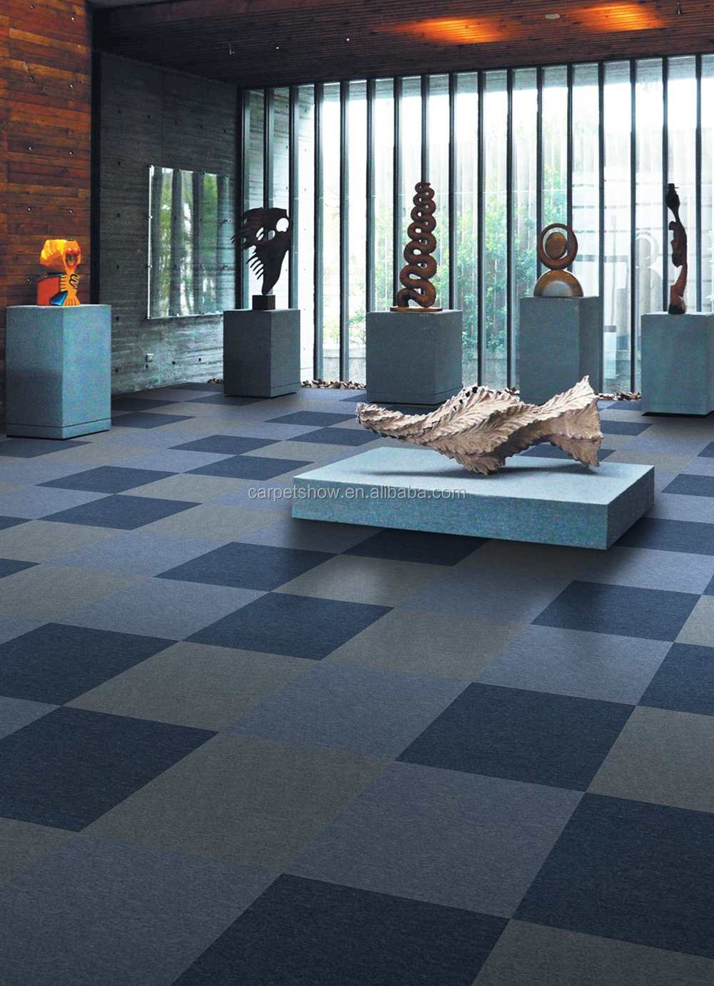 Adhesive Carpet 12x12 Self Tiles Rug