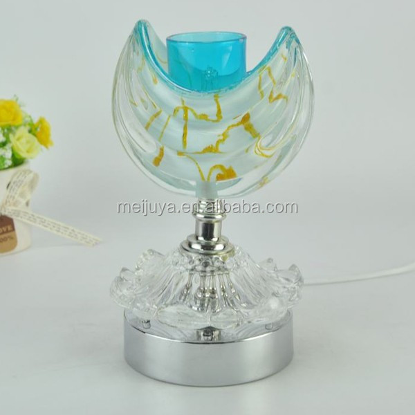 Moon boat glass oil lamp shade with essential oil