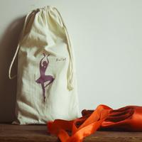 Promotional Customized cotton canvas Drawstring Ballet shoes bag wholesale