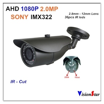 1080P 2.0MP AHD 2000VL With OSD Menu Support External Triggering By CDS Weatherproof Indoor / Outdoor Using IR Analog CCTV Camer