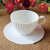 White Teacup Cupcake Silicone Muffin Mold Cups Party Baking Oven + Saucers