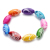 50pcs Mixed Color 10*18mm Crystal Beads Resin Beads for Jewelry Making