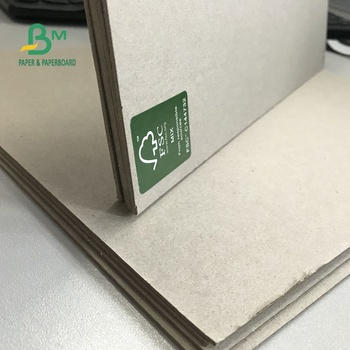 Custom service 1.35mm 1.45mm 1.5mm 2mm 70*100cm Grey Cardboard Sheet for covers