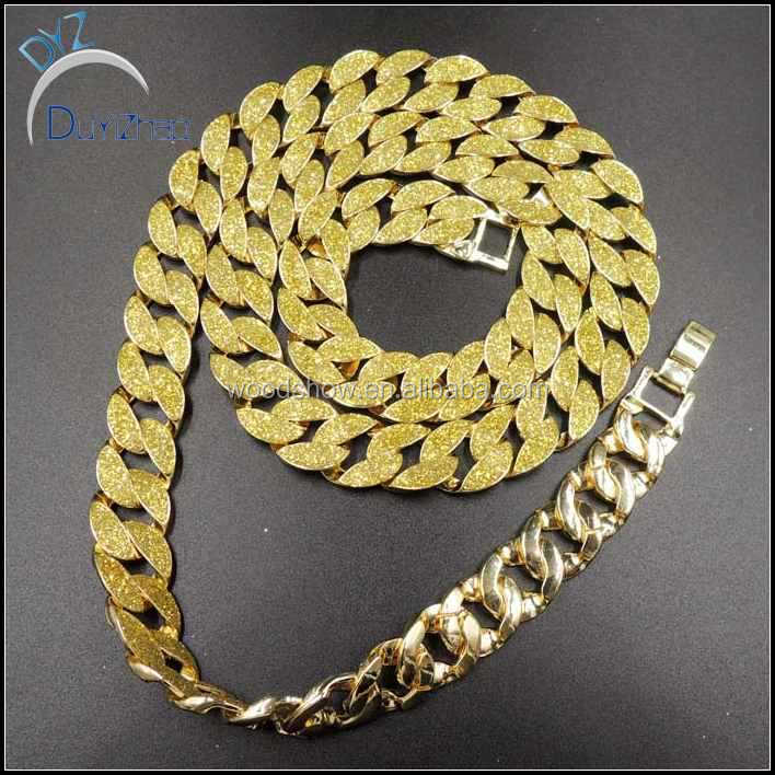 hot sale hip hip cuban chain new design long necklace jewelry