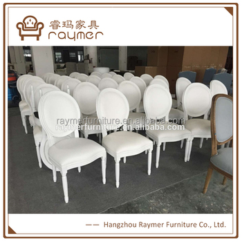 classic oval back french style white wood dining chair wedding chair