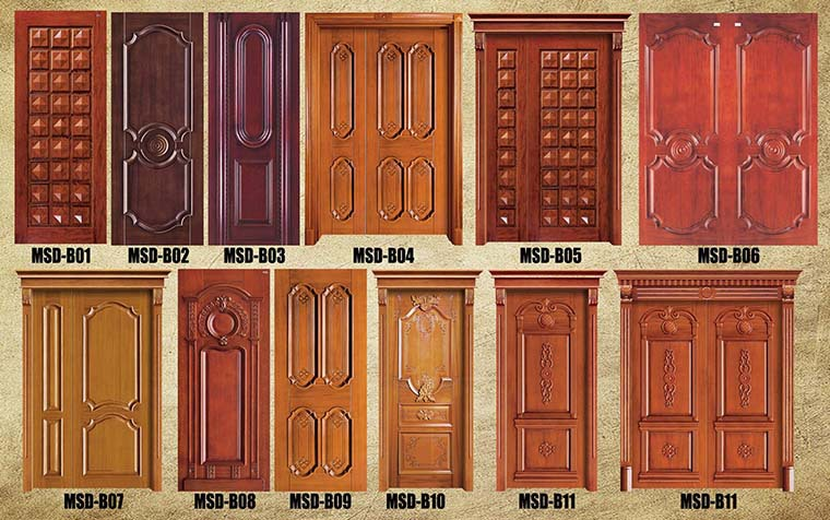 Ghana villa main entrance solid teak wood door model buy for Single wooden door designs 2016