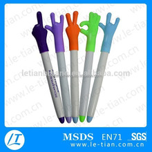 LT-Y860 fashion finger shaped pen with kinds of Hand gestures