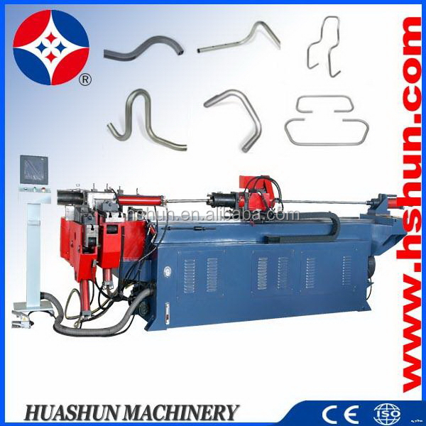 HS-SB-75NCMP customized unique brass oval tube bending machine video