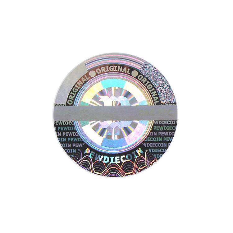 Impressão personalizada etiqueta do holograma 3d/3d etiqueta de segurança holográfico