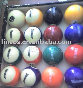 Customer design billiard balls