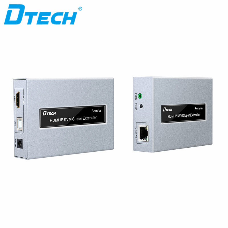 Dtech AM/BM UTP Cable 1080 จุด IR CAT5e/6 HDMI IP KVM Extender 120 เมตร