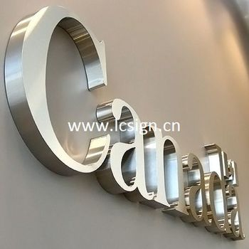 Steel Cut Out Letters Stainless Steel Cut Out Letter Backlit Sign Outdoorstainless