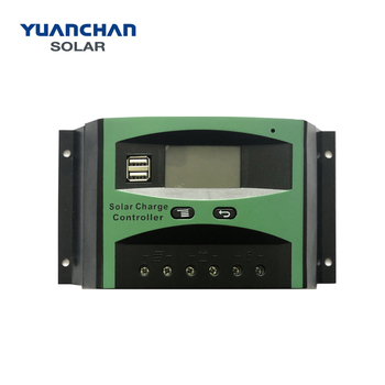 Top One Manufacturer China Battery Charge Controller 50A PWM LCD 12v/24v Solar Charger Controller