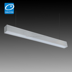Suspended direct/indirect light luminaires lighting