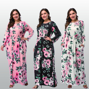 Big Size 4XL 2018 Fat MM Woman Dress Spring Loose Printing Long Dresses Plus Size Women Clothing Maxi Dress